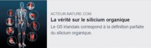 silicium organique G5 LLRG5 Alma bio acteur-nature
