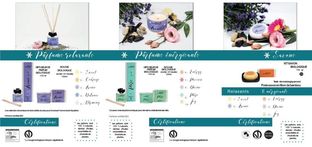 purobio Home ligne de parfums d'ambiance bougies parfumées et savons