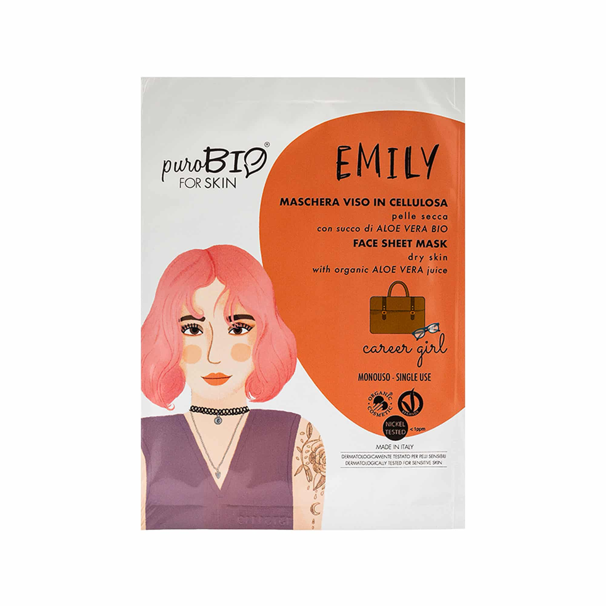 Masque Tissus Emily Career Girl PuroBIo for skin